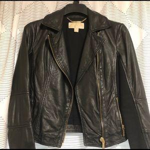 Michael Kors lamb skin leather jacket